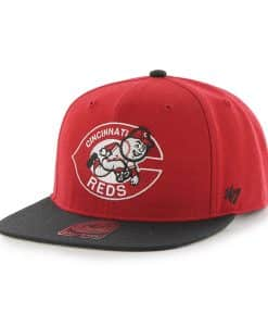 Cincinnati Reds Sure Shot Two Tone Captain Red 47 Brand Adjustable Hat