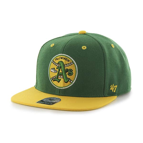 Oakland Athletics Sure Shot Two Tone Captain Kelly 47 Brand Adjustable Hat