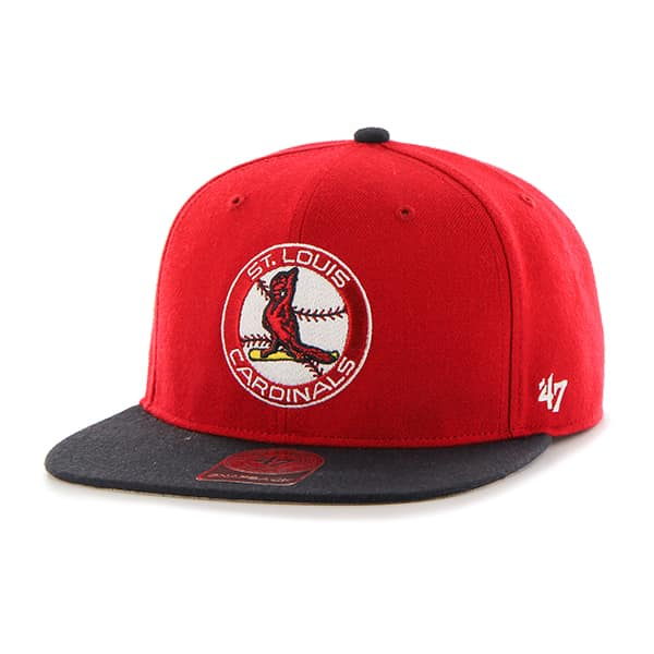 St. Louis Cardinals Sure Shot Two Tone Captain Red 47 Brand Adjustable Hat