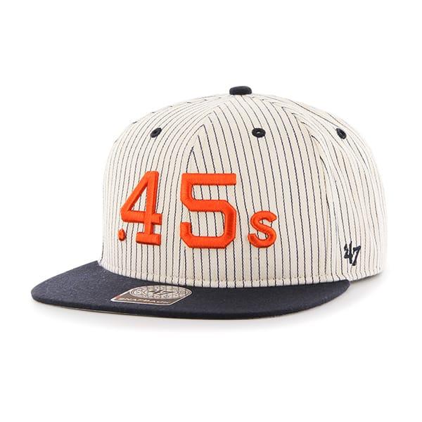 6c35165932d Houston Astros Woodside Captain Navy 47 Brand Adjustable Hat - Detroit Game  Gear