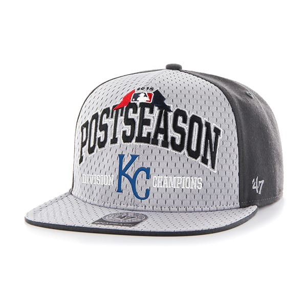 Kansas City Royals Clincher Captain Charcoal 47 Brand Adjustable Hat