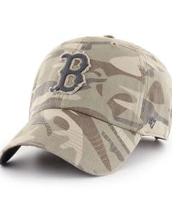 Boston Red Sox 47 Brand Camo Tarpoon Faded Adjustable Hat
