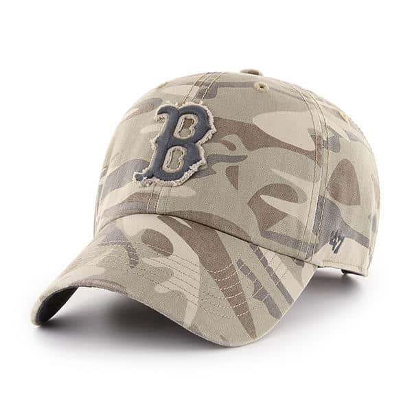 reputable site ca1ee 95f80 Boston Red Sox 47 Brand Camo Tarpoon Faded Adjustable Hat