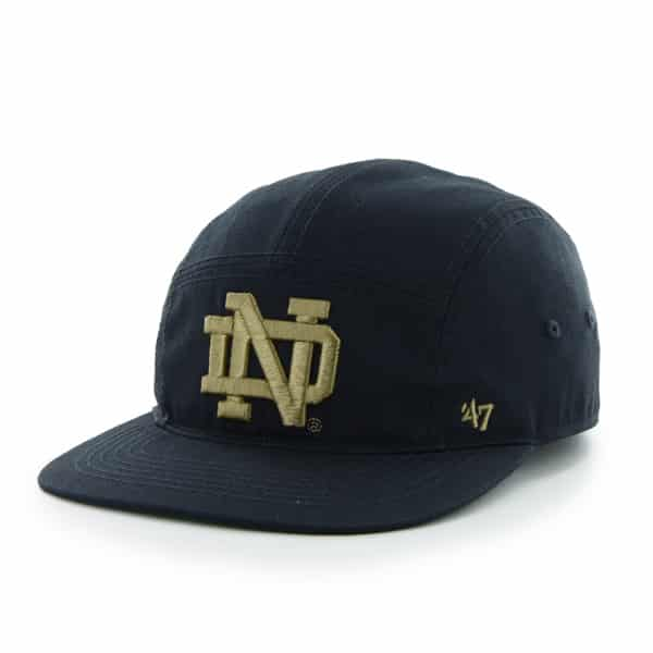 Notre Dame Fighting Irish Bergen 5 Panel Navy 47 Brand Adjustable Hat