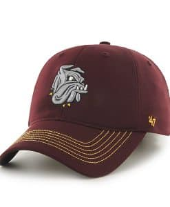 Minnesota Duluth Bulldogs Game Time Closer Dark Maroon 47 Brand Stretch Fit Hat