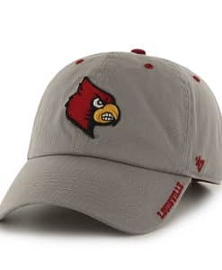 Louisville Cardinals Ice Gray 47 Brand Adjustable Hat