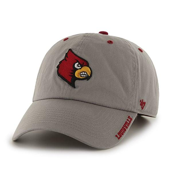 Louisville Cardinals Ice Gray 47 Brand Adjustable Hat