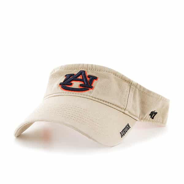 Auburn Tigers Ice Visor Khaki 47 Brand Adjustable Hat