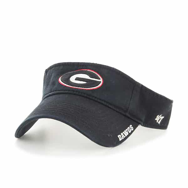 Georgia Bulldogs Ice Visor Black 47 Brand Adjustable Hat