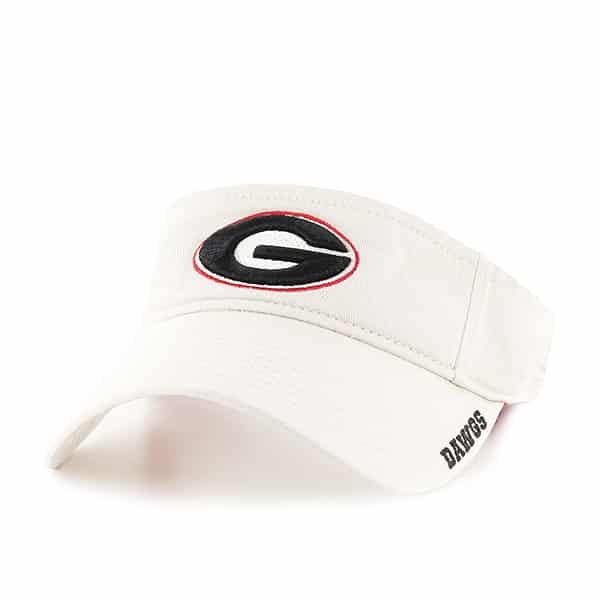 Georgia Bulldogs Ice Visor Natural 47 Brand