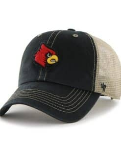 Louisville Cardinals Montana Black 47 Brand Adjustable Hat