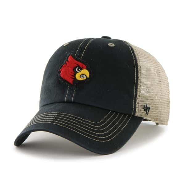 Louisville Cardinals Montana Black 47 Brand Adjustable Hat