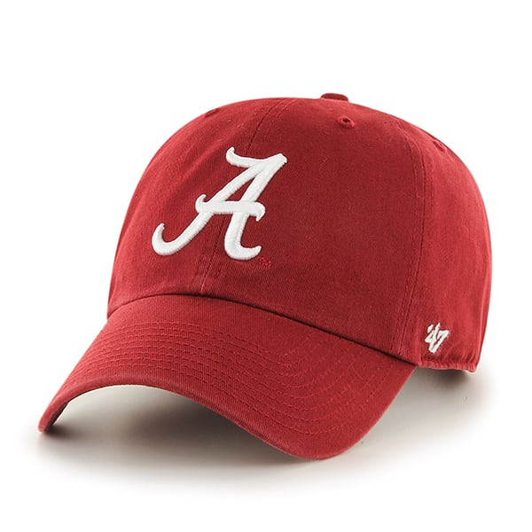 Alabama Crimson Tide Clean Up Razor Red 47 Brand Adjustable Hat