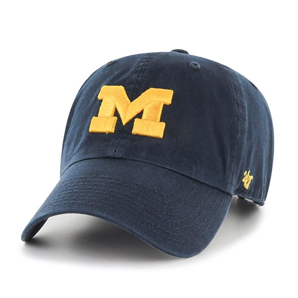 Michigan Wolverines Clean Up Navy 47 Brand Adjustable Hat