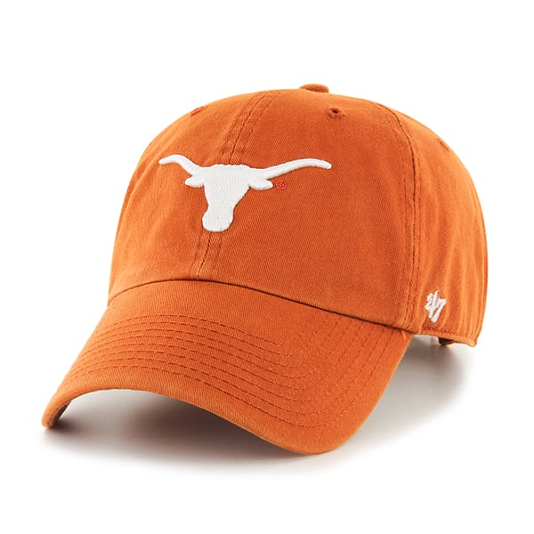 purchase cheap b0bc4 b5c9b Texas Longhorns Clean Up Orange 47 Brand Adjustable Hat