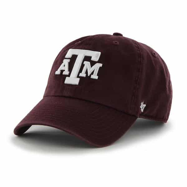 Texas A&M Aggies Clean Up Dark Maroon 47 Brand Adjustable Hat