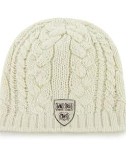 Harvard Crimson Women's 47 Brand Natural Shawnee Knit Beanie Hat