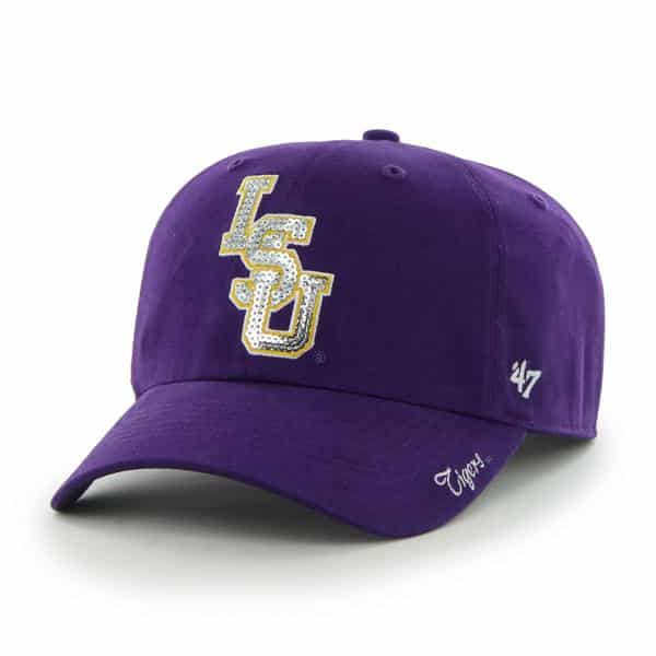 1af775cfccffa1 Louisiana State Tigers Lsu Sparkle Team Color Clean Up Purple 47 Brand  Womens Hat - Detroit Game Gear
