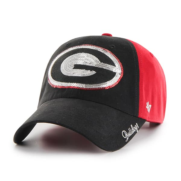 Georgia Bulldogs Sparkle Two Tone Clean Up Red 47 Brand Womens Hat ... d2b6f4ad2d