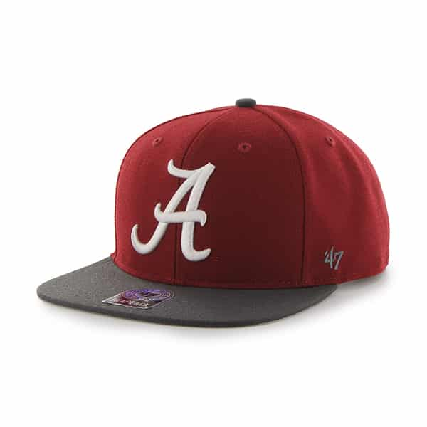 Alabama Crimson Tide Sure Shot Two Tone Captain Razor Red 47 Brand Adjustable Hat