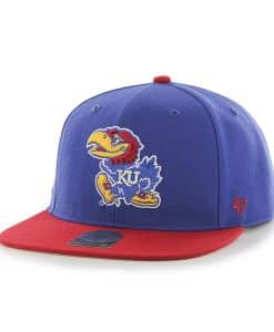 Kansas Jayhawks Sure Shot Two Tone Captain Royal 47 Brand Adjustable Hat