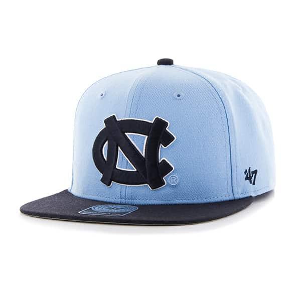 North Carolina Tar Heels Unc Sure Shot Two Tone Captain Columbia 47 Brand Adjustable Hat