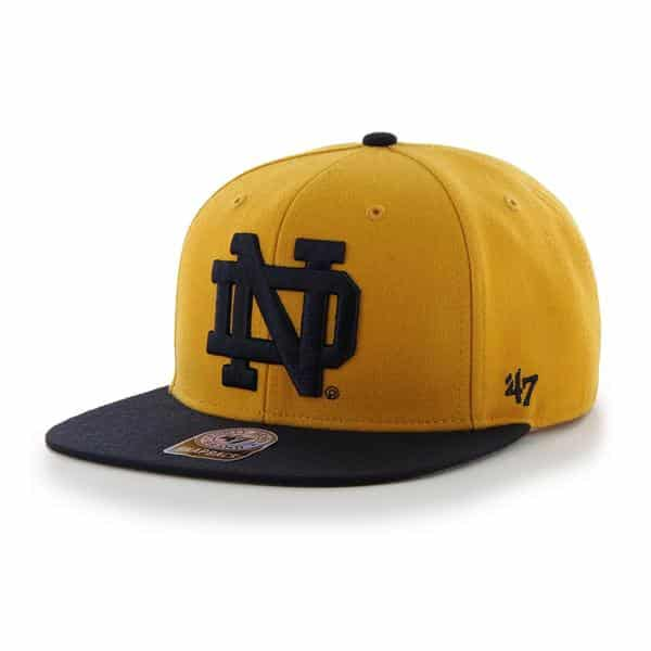 9022a78632f09 Notre Dame Fighting Irish Sure Shot Two Tone Captain Gold 47 Brand ...