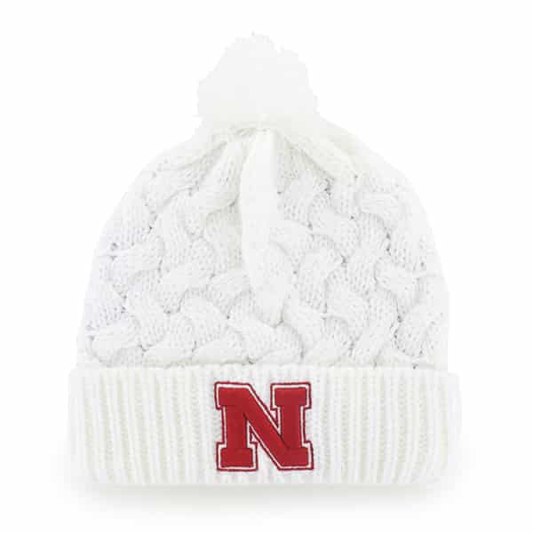 Nebraska Cornhuskers Snow Angel White 47 Brand Womens Hat