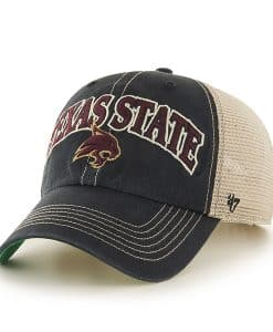 Texas State San Marcos Bobcats Tuscaloosa Clean Up Vintage Black 47 Brand Adjustable Hat