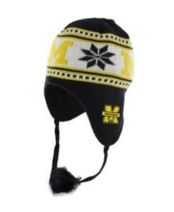Michigan Wolverines Wampa Knit Navy 47 Brand YOUTH Hat