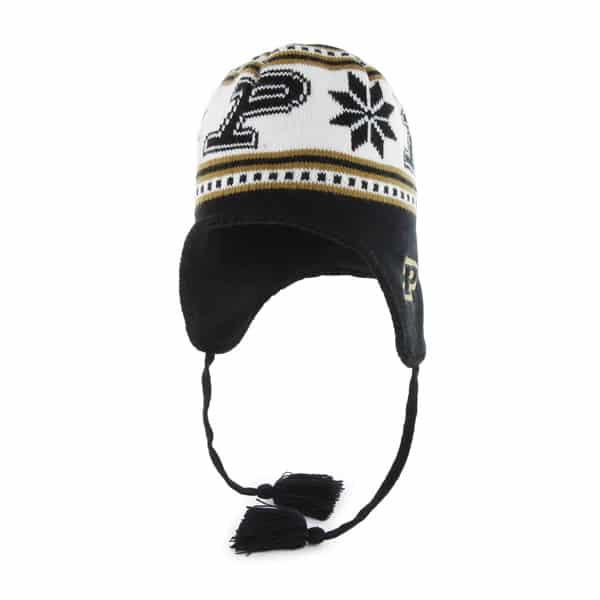b520c6215 Purdue Boilermakers Wampa Knit Black 47 Brand YOUTH Hat