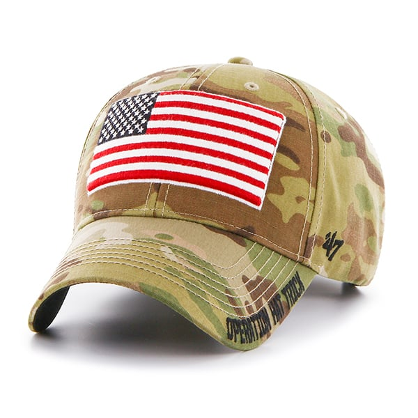 reputable site 5bb59 34044 Operation Hat Trick Myers MVP Multicam 47 Brand Adjustable USA Flag Hat - Detroit  Game Gear