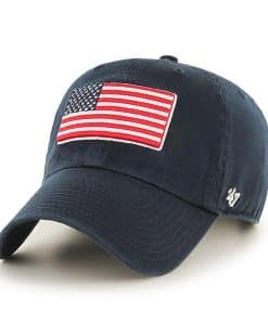 Operation Hat Trick Clean Up W/ Side Embroidery Navy 47 Brand Adjustable USA Flag Hat