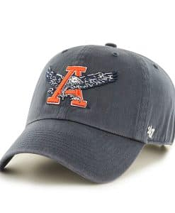 Auburn Tigers Clean Up W/Back Strap Embroidery Vintage Navy 47 Brand Adjustable Hat