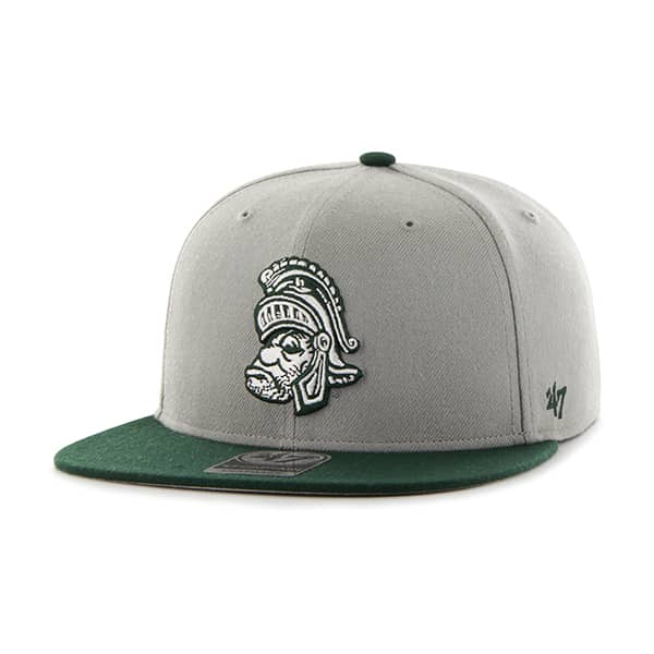 Michigan State Spartans Sure Shot Two Tone Captain Gray 47 Brand Adjustable Hat