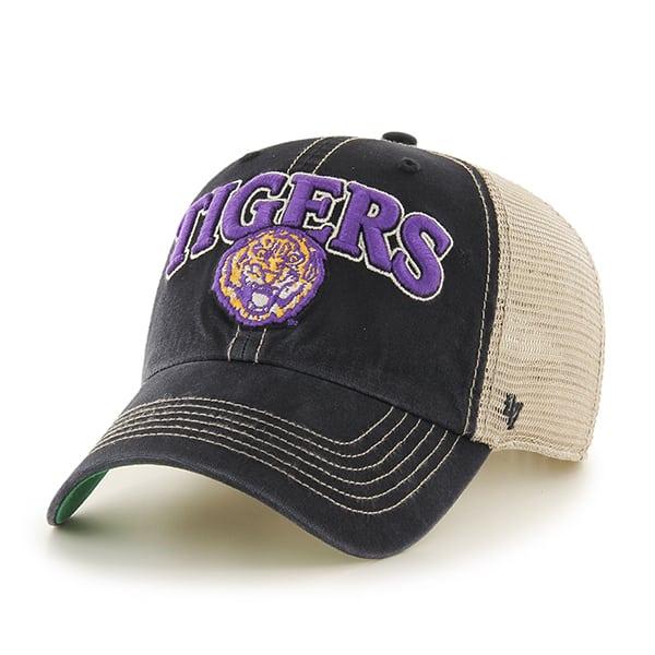 Louisiana State Tigers Lsu Tuscaloosa Clean Up Vintage Black 47 Brand Adjustable Hat