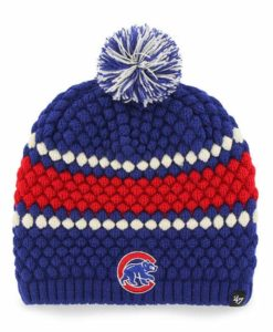 Chicago Cubs Women's 47 Brand Blue Leslie Beanie Hat
