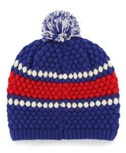 Chicago Cubs Women's 47 Brand Blue Leslie Beanie Hat Back