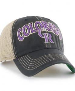 Colorado Rockies 47 Brand Vintage Black Tuscaloosa Mesh Clean Up Adjustable Hat