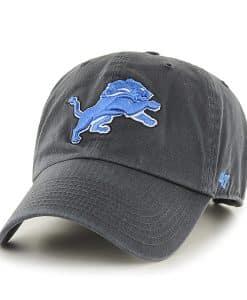 Detroit Lions 47 Brand Charcoal Clean Up Adjustable Hat
