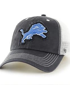 Detroit Lions Taylor Closer Charcoal Mesh Stretch Fit Hat