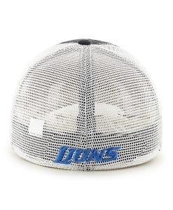 Detroit Lions Taylor Closer Charcoal Mesh Stretch Fit Hat Back