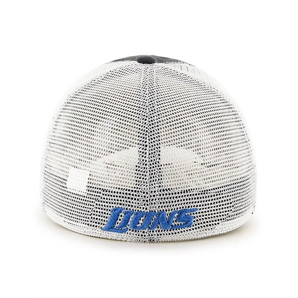 Detroit Lions Taylor Closer Charcoal Mesh Stretch Fit Hat Back