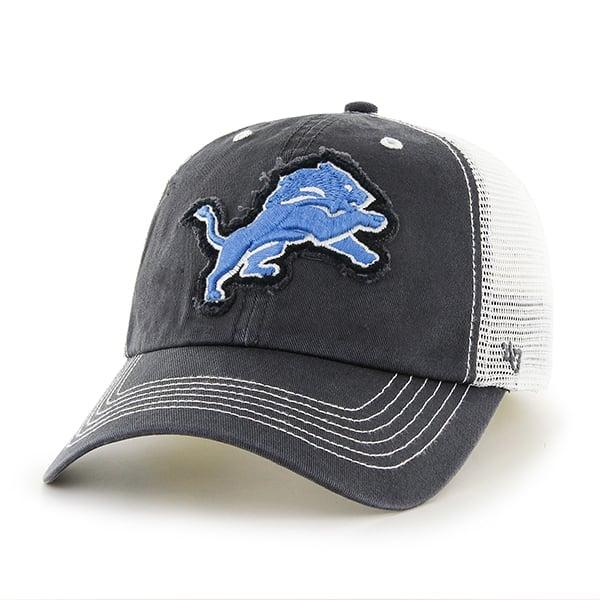 Detroit Lions Taylor Closer Charcoal Mesh Stretch Fit Hat