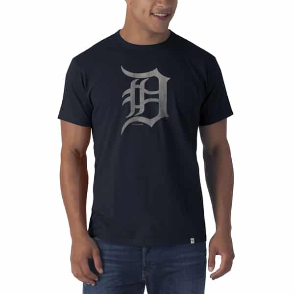 Detroit Tigers Flanker Navy T-Shirt