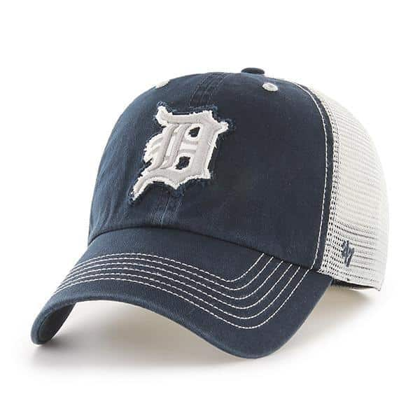 666f0f835e6b5 Detroit Tigers 47 Brand Taylor Closer Navy Stretch Fit Hat - Detroit Game  Gear