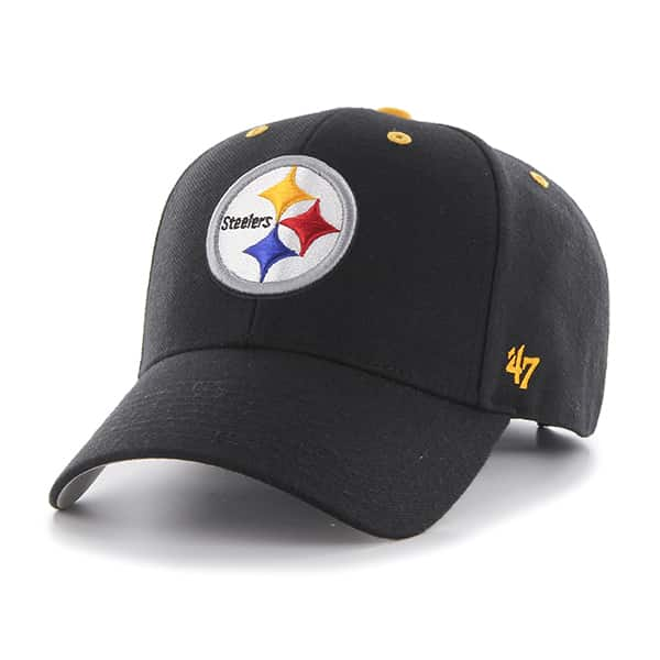 Pittsburgh Steelers Audible MVP Black 47 Brand Adjustable Hat