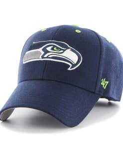 Seattle Seahawks Audible MVP Light Navy 47 Brand Adjustable Hat