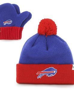 Buffalo Bills Bam Bam Set Sonic Blue 47 Brand INFANT Hat