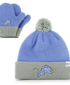 Detroit Lions Bam Bam Set Blue Raz 47 Brand INFANT Hat